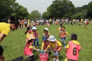 プリスクール運動会 cup race